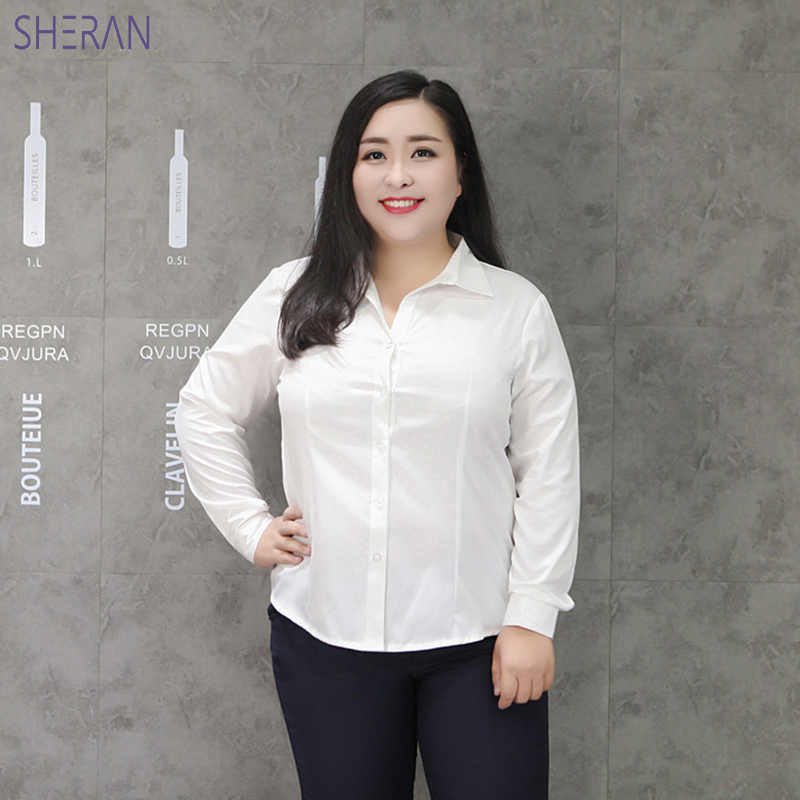 Women Shirts 2018 Women Tunic Plus Size 5XL 6XL 7XL 8XL 9XL Office Ladies Wear Shirts Striped Long Sleeve Blusas Oversized Shirt