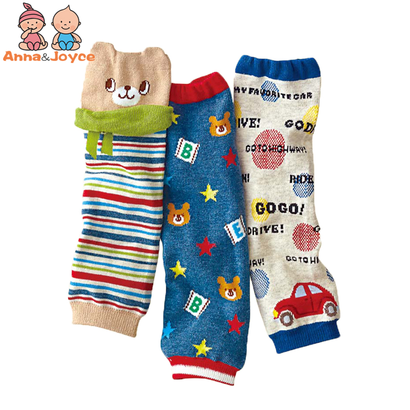 3pair/lot Boy Girl Baby Leg Warmers socks Infantil Animal Warm Cotton Knee Pads for Crawling Babies socks