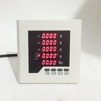 3 Fase digital medidor de panel pantalla LED v medidor de hz... monitor multifuncional amper volt meter