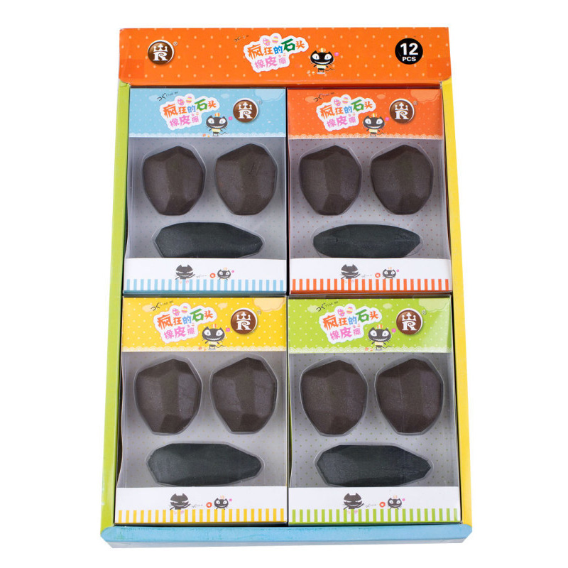 1PC Cute Marble Rubber Erasers Kawaii Pencil Erasers Creative Stone Erasers For Kids School Office Supplies Stationery