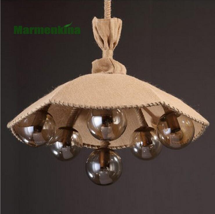 Pays américain rétro créatif magique haricots chanvre corde linge couverture parapluie lustre restaurant vêtements magasin lampes décoratives - 3