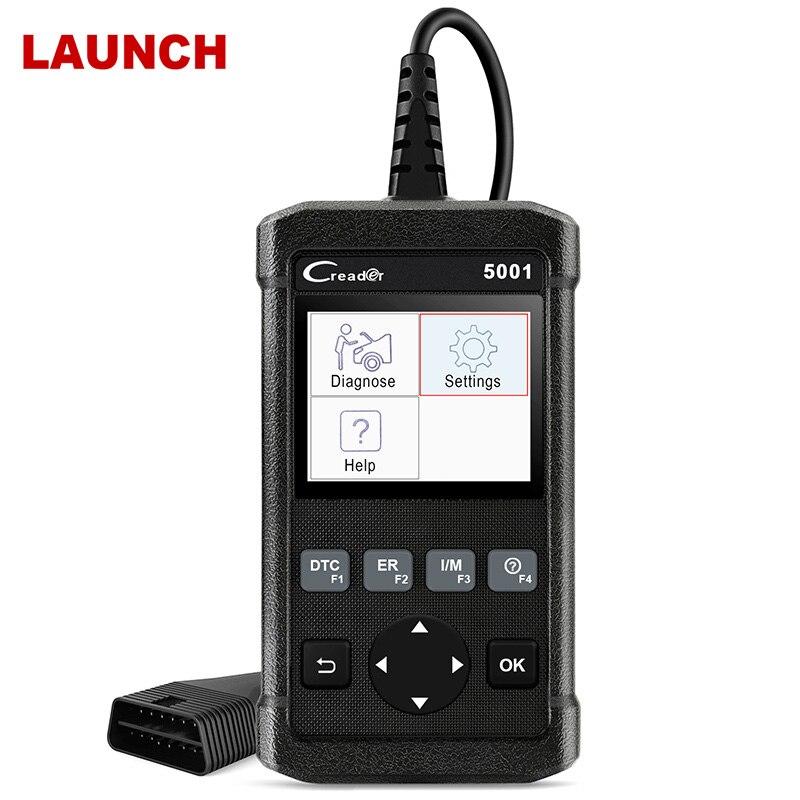 Lançamento Creader X431 5001 Full OBD2 CR5001 do Scanner Automotivo Ferramenta de Diagnóstico Do Carro OBDII OBD Scanner de Leitor de Código de Motor 2 cr5001