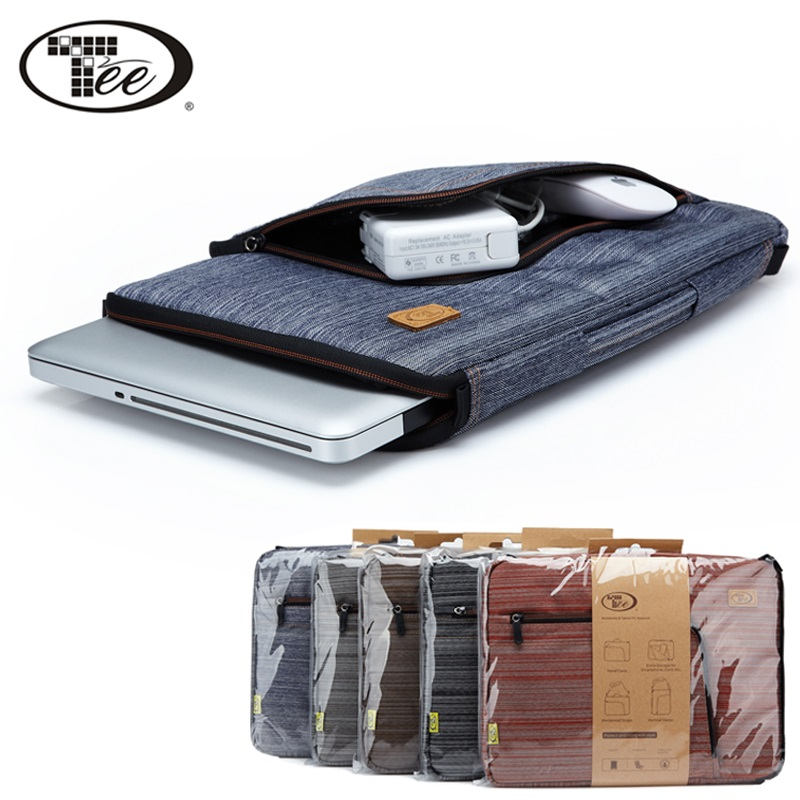 tee denim laptop sleeve case bag and adjustable shoulder strap for 10 11 13 15 inch notebook. Black Bedroom Furniture Sets. Home Design Ideas