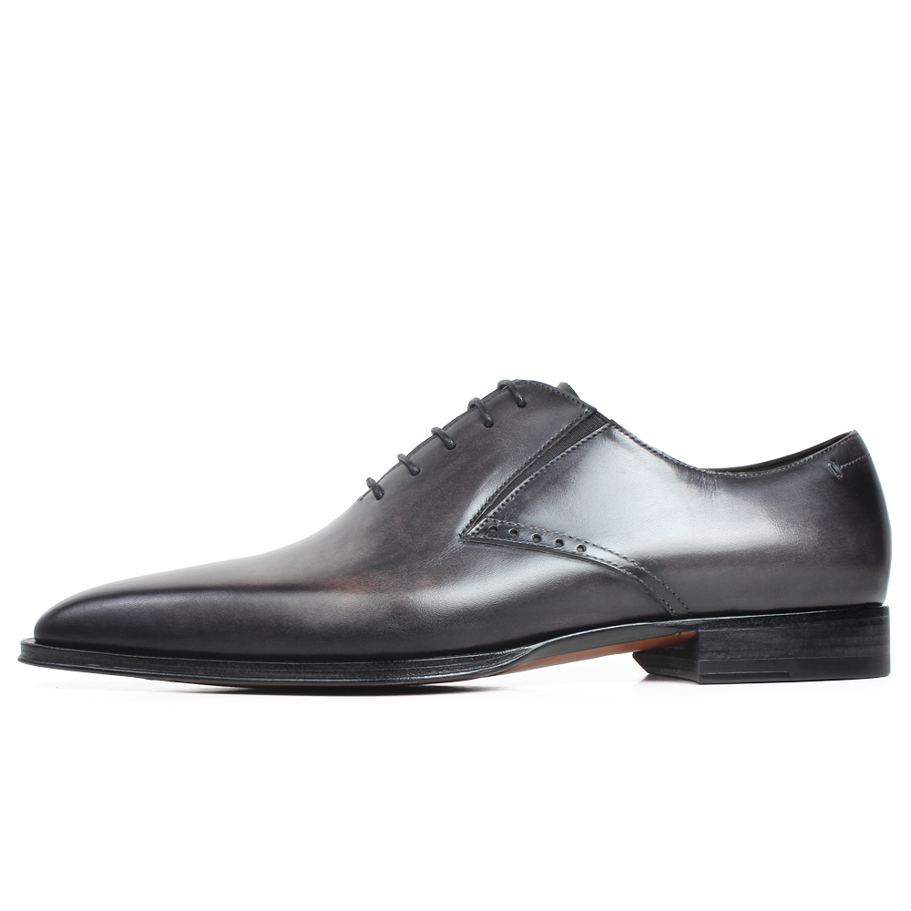 Gray Patina Handmade Oxford Shoes 2