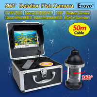 Free Shipping 50m Professional Underwater Fishing Camera Fishfinder 360 Degree Rotation CCD 800TVL