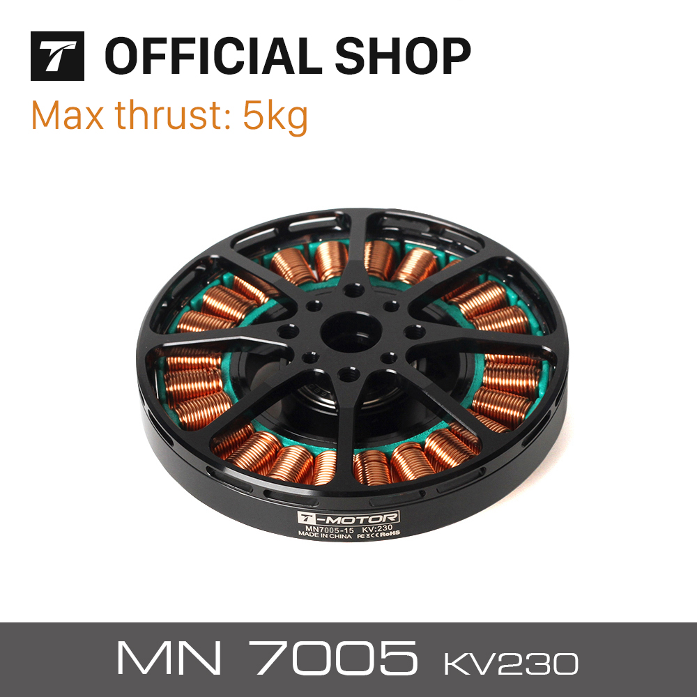 T-motor Energy-saving Antigravity MN7005 KV230 Light Efficient Motor For Quadcopter Helicopter UAV Unmanned Boats RC Drones t motor flame100a hv 500hz 6 14s lipo esc for helicopter multi rotor quadcopter uav rc drones