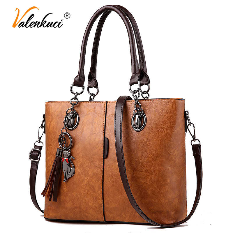 Luxury Handbags Women Bags Designer 2018 Big Solid Leather Tassel Crossbody Shoulder Bags For Women Messenger Ladies Hand Bag