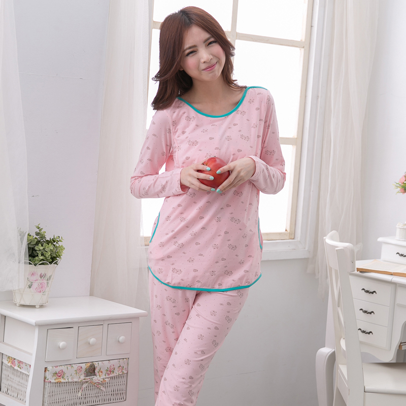 MamaLove Autumn Maternity Sleepwear Breast Feeding Pajamas Nursing Sleepwear Nursing Pajamas Set clothes for Pregnant Women