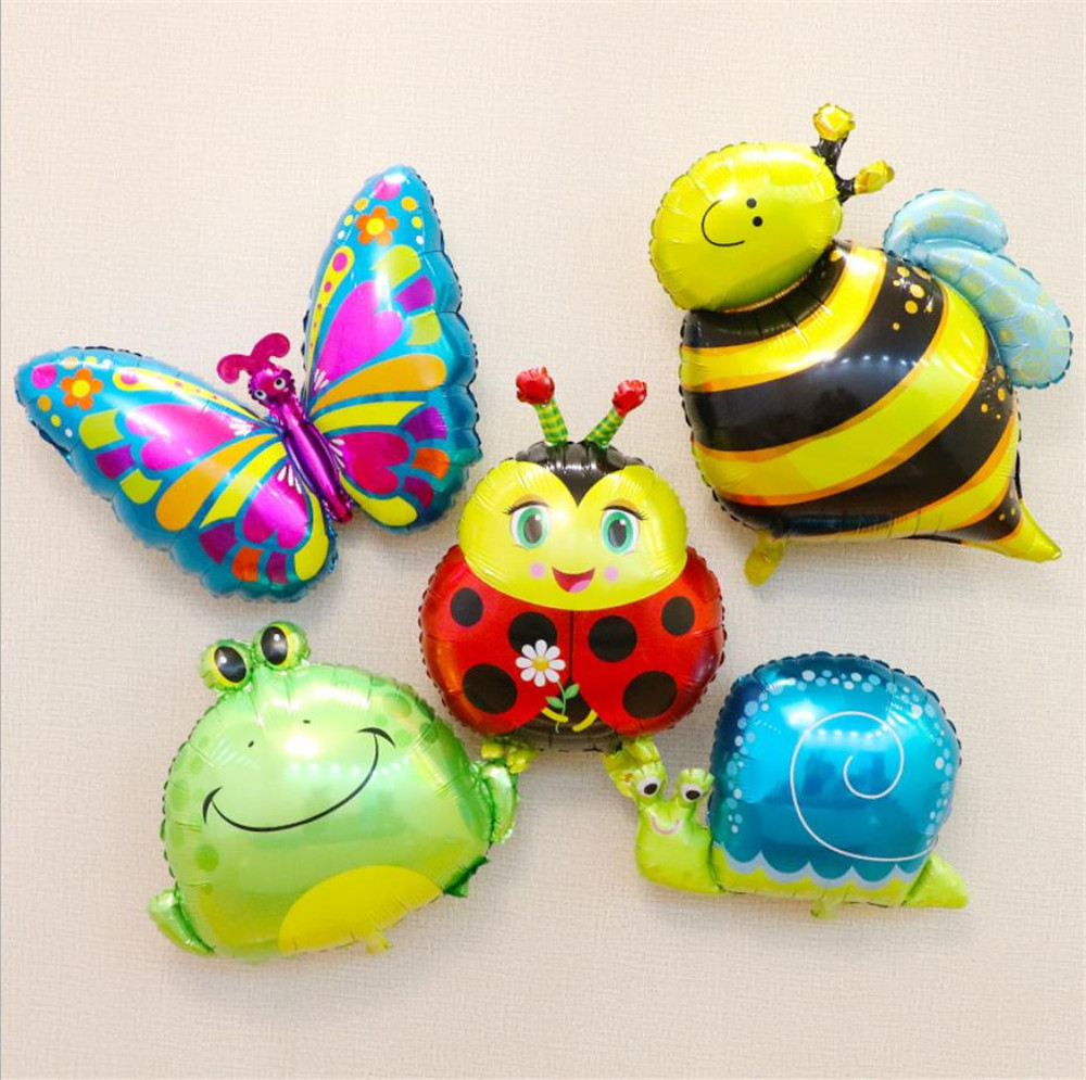 Insect Frog Bee Balloons Animal Cartoon Snails Balloon For Kindergarten Decoration Birthday Party Supplies Cartoon Hat