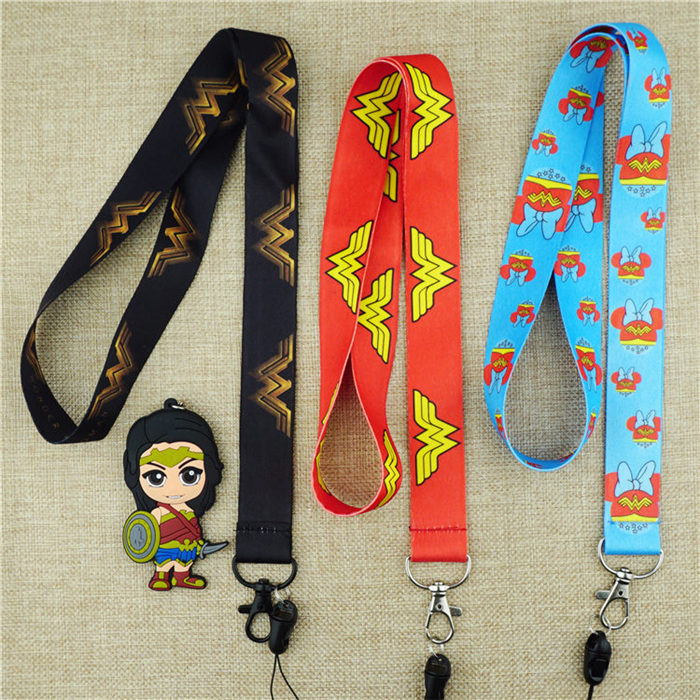 lot Superheros  Lanyard Neck Straps Charms Cell Phone Rope Keychain Gift