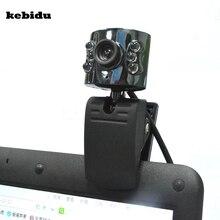 Kebidu 30,0 мегапиксельная USB 2,0 камера Веб-камера 6 светодиодный светильник Диммер 30 м HD веб-камера с микрофоном микрофон для ПК компьютер ноутбук