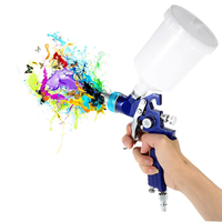 1 7mm Nozzle 600cc Professional Paint Spray Gun Gravity Feed HVLP Airbrush Car Furniture Finishing Coat