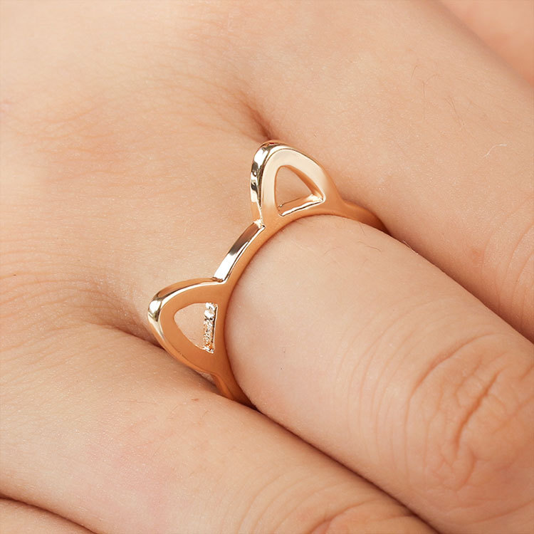 CUETTCO 2019 New Cute Kitty Ear Women Rings Spring Fashion Girl Jewelry Ring For Party Birthday Gift Jewelry in Rings from Jewelry Accessories