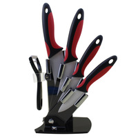Findking High Quality Kitchen Chef Knife Set 3''4''5''6''Inch+Cover+Peeler With Holder Kitchen Ceramic Paring Knife Set