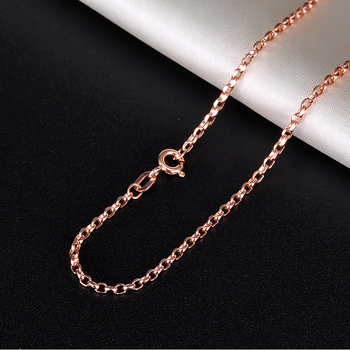18K Pure Gold Necklace Real AU 750 Solid Gold Chain Simple Beautiful Upscale Trendy Classic Party Fine Jewelry Hot Sell New 2020 2