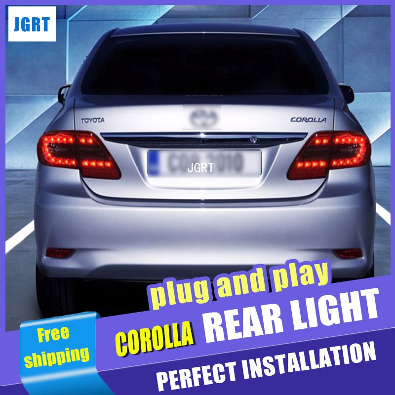 все цены на  A&T Car Styling for Toyota Corolla Taillights 2011-2013 Altis LED Tail Light Altis Rear Lamp DRL+Brake+Park+Signal  онлайн