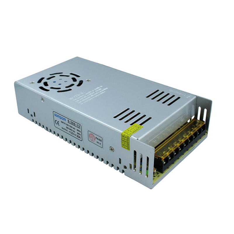 ФОТО 360W power supply DC12V 30A switching led transformer AC100-240V led driver warranty 2 years for led lighting fixture