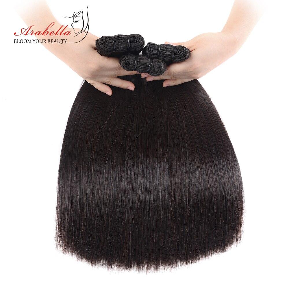 Arabella Brésilien Vierge Cheveux Raides 100% Bundles de Cheveux Humains Double Drawn 3 pcs Affaire Naturel Noir Cheveux
