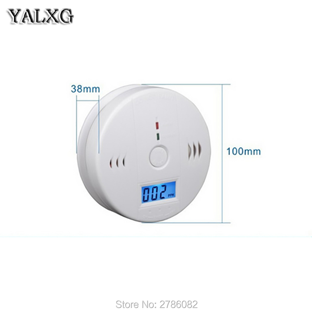 Home Security Alarm System Smoke Detector Battery Operated CO Carbon Monoxide Aralm With Display Screen