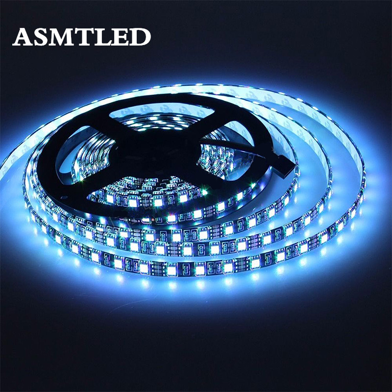 LED Strip 5050 RGB Black PCB DC12V Flexible LED Light 60LED/m 5050 Black LED Strip RGB/White/Warm White/Blue/Green/Red solar powered 6w 100 led rgb light water resistant flexible tube light white black