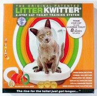 3 Stap Cat Toilet Training Systeem Kit Kleurrijke Plastic Training Queakly Gebruiksvriendelijk Menselijk Wc 8 weken of minder Dierbenodigdheden