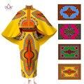Africanos Vestidos para Mujeres Conjunto de Dos Piezas Crop Top y Falda de Invierno Set Trajes para Mujeres Unqie Cabo Escudo y Falda Maxi 6XL WY545
