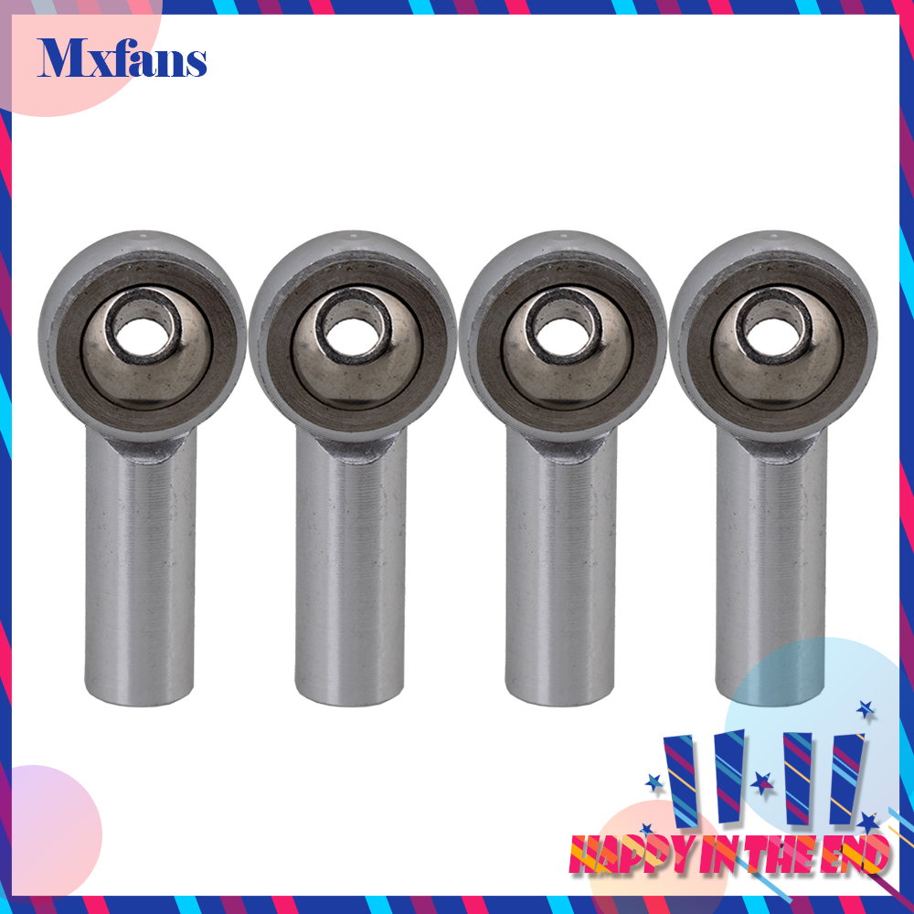 Mxfans 2.6cm Length 4pcs M4 Aluminum Alloy Ball Joints for RC Car Truck Helicopter