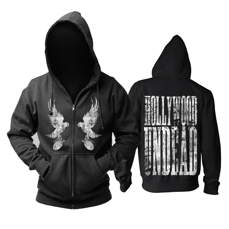 Frete grátis HOLLYWOOD UNDEAD freeshipping Death metal hardcore Men In Black Hoodie