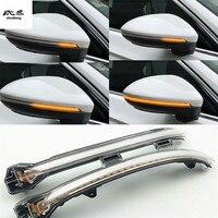 2pcs/lot Dynamic running water Blinker Indicator Rearview Mirror Turn Light for Volkswagen VW GOLF 7 Golf Sportsvan