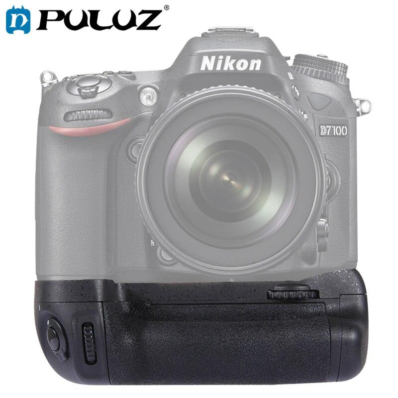 Poignée de batterie PULUZ pour appareil photo Vertical Nikon poignée de batterie pour appareil photo numérique reflex numérique Nikon D7100/D7200 sangles de caméra gratuites