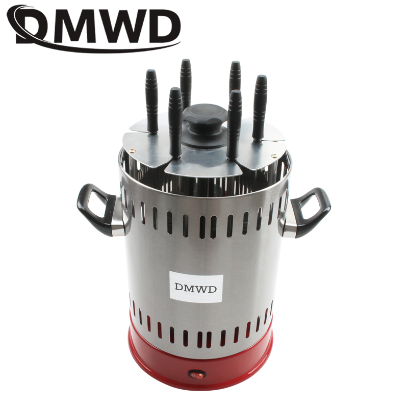DMWD Electric Rotissery grill oven barbeque machine skewer kebab BBQ Smokeless indoor outdoor automatic rotating Heating StoveDMWD Electric Rotissery grill oven barbeque machine skewer kebab BBQ Smokeless indoor outdoor automatic rotating Heating Stove