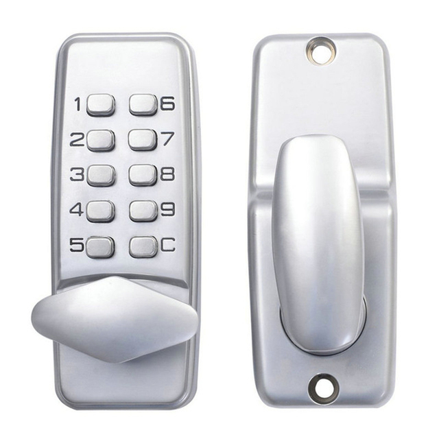Password Entry Door Locks Keyless Security Zinc Alloy Waterproof with Digital Machinery Code Keypad for School Dormitory Family