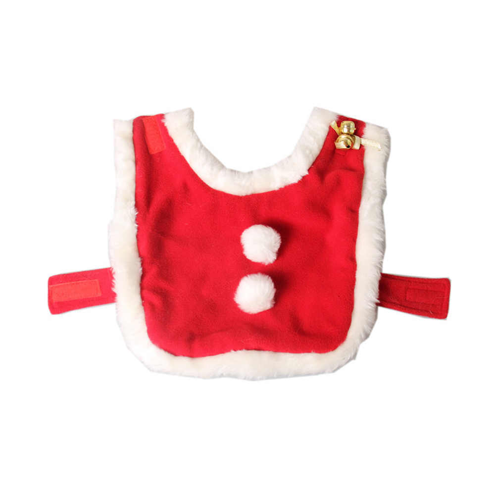 Красный бархат короткие плюшевые зимние Pet Cat собака плащ шали воротник теплый шарф с колокольчиком Merry Рождество подарок на Новый год товар для животных