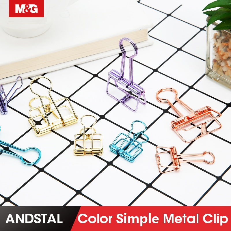 10pcs Cute Kawaii Colorful Metal Clip Paper Notes Clips For Photo Message Ticket File Office School Supplies Korean Stationery