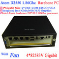 mini pc box Barebone MINI ITX Server with fan Intel Atom D2550 1.86Ghz CPU 4*82583V Gigabit LAN Wake on LAN Watchdog support