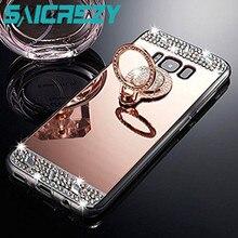 Parlak Ayna samsung kılıfı Galaxy S8 A50 not 8 9 kılıf j7 neo j5 j3 2016 a5 2017 S10 S9 artı j4 j6 a6 a8 a7 2018 Telefon kapak
