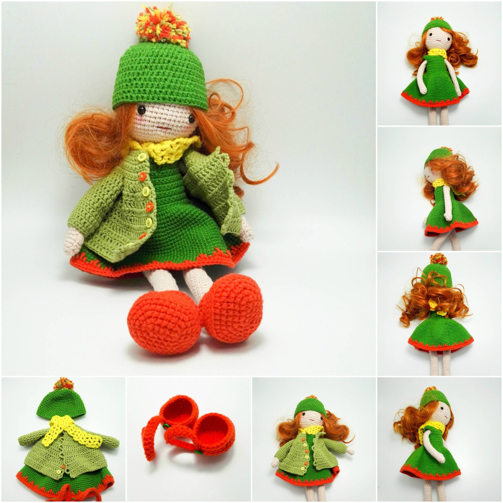 Crochet Toys  Amigurumi  Mermaid Girls Doll Number  WS0079