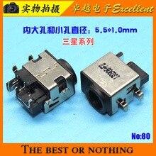 Jack para Samsung Porta de Soquete 10 Pcs Frete Grátis Novo DC Q350 Q450 Q550 Rv440 R525 R510 R728 R730 Power Jack