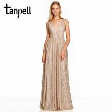 Вечернее платье tanpell розовое без рукавов с открытой спиной