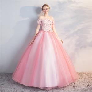 Image 2 - Quinceanera Jurken Nieuwe Prom Party Korte Mouwen Uit De Schouder Baljurk Party Prom Formele Homecoming Gown Plus Size