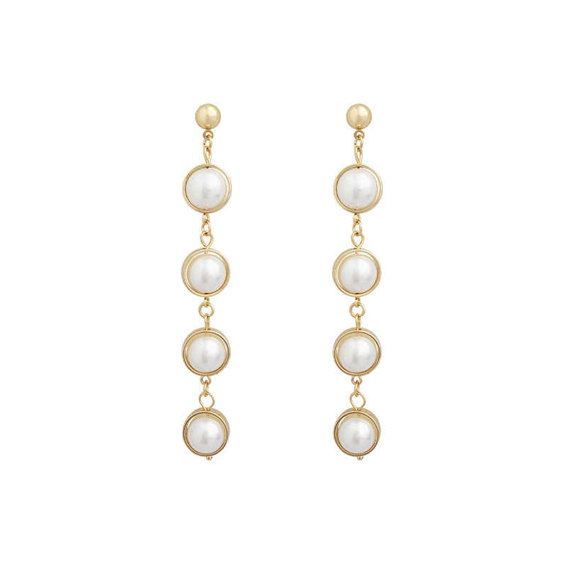 Classic Pearl Simulated-pearl Water Drop Women Dangle Earrings Bohemian Fashion Earrings For Women Statement Earrings In Jewelry
