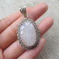 Непал Серебро 925 Серебряный кулон инкрустированные лунный камень № 140011086