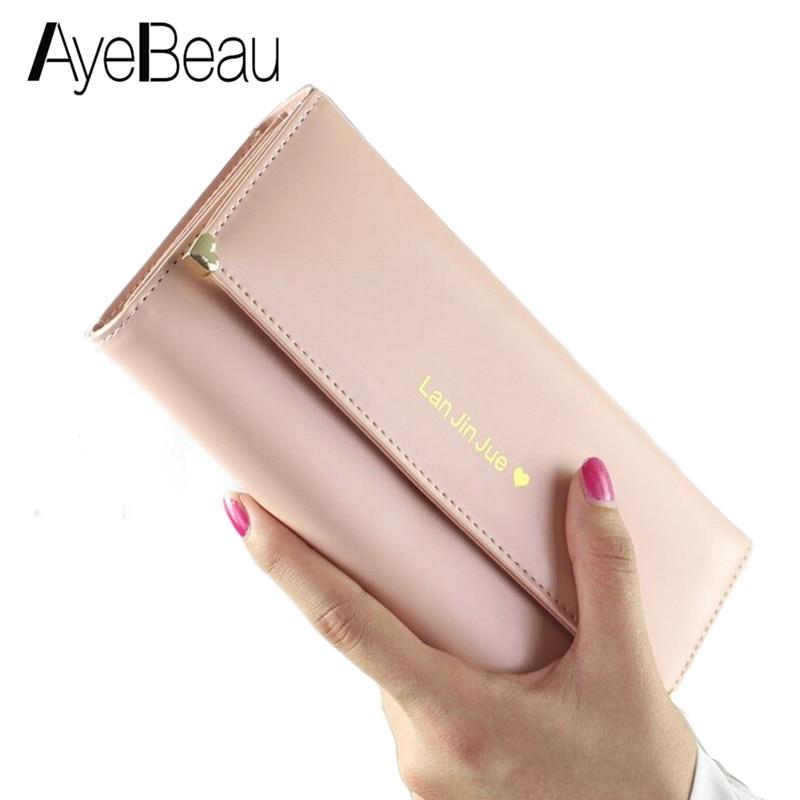 все цены на Clutch Long Phone Partmone Portomonee For Lady Cuzdan Women Wallet Female Purse Money Bag Klachi Walet Vallet Kashelek Portmann