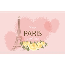 Yeele Paris Eiffel Tower Flower Love Heart Romantic Photography Backgrounds Customized Photographic Backdrops for Photo Studio