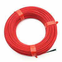 100 M câble chauffant chaud fil chauffant serre légumes matériel de chauffage agricole rouge téflon matériel 24k Fiber de carbone