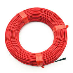 100 м Отопление кабель теплый провод нагревателя парниковых овощи фермы Отопление оборудования красный тефлон Материал 24 К к углерода