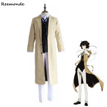REEMONDE Anime Bungo Stray Dogs Cosplay Costumes Osamu Dazai Jackets Pants For Men