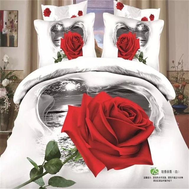 En Forme De Coeur Lac Paysage 3d Rouge Rose Blanc Ou Noir Ensembles