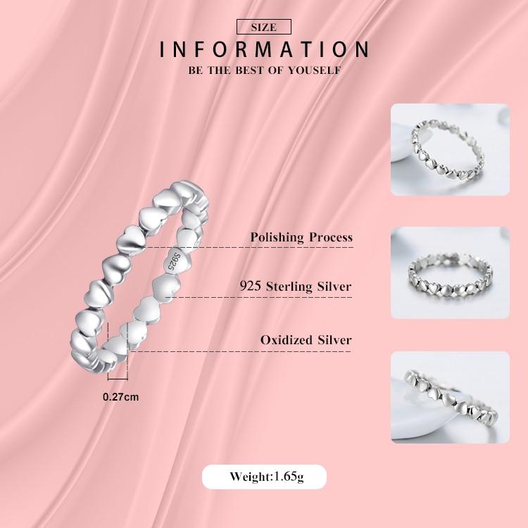 Hot Authentic Original Fashion 100% Solid 925 Sterling Silver Heart - Märkessmycken - Foto 2