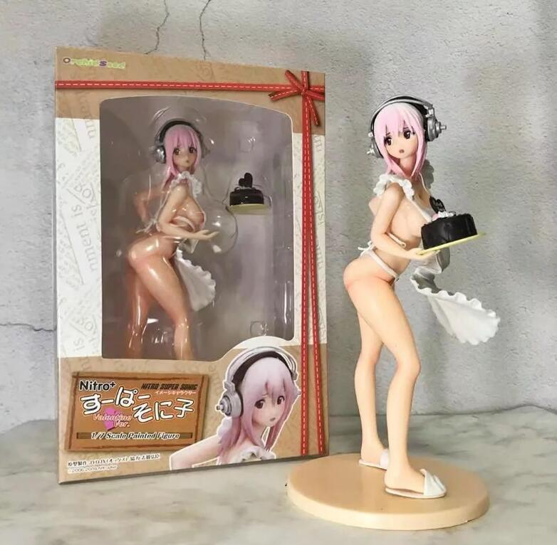 21cm Super Sonico sexy cake Anime Action Figure PVC New Collection figures toys Collection for Christmas gift